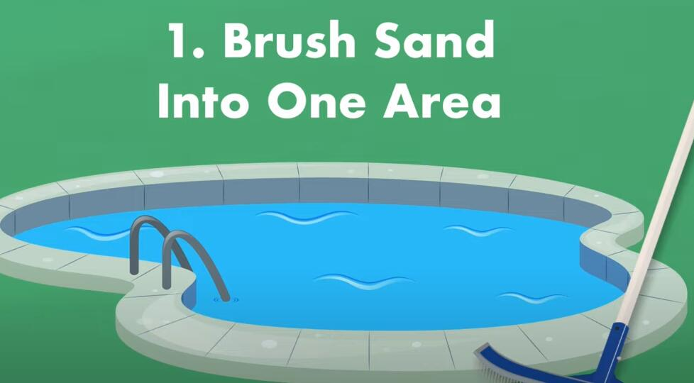 brush sand into one area