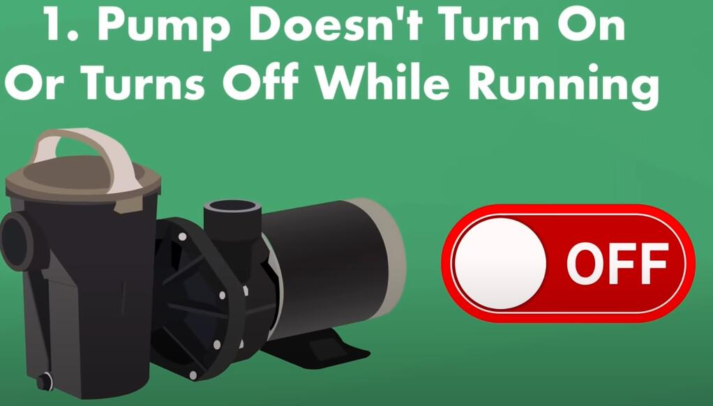 pump does not turn on or turns off while running