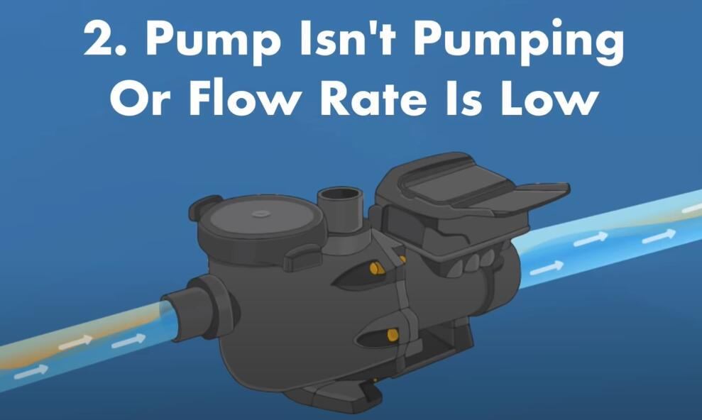 pump is not pumping or flow rate is low
